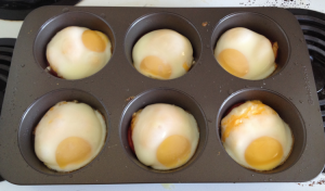 Mini Baked Egg Casseroles Cooked