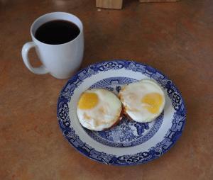 Mini Baked Egg Casseroles On Plate