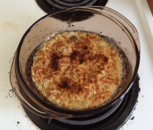 Spinach Gratin Cooked