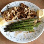 Fillet of Fish Amandine (with Asparagus)