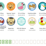 A Year of Badges on 750 Words